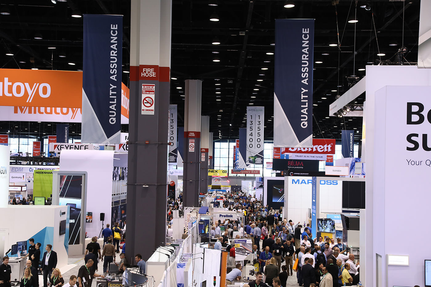 IMTS 2018 drew a record registration of 129,415 people and featured 1,424,232 sq. ft. of exhibit space representing 2,123 booths and 2,563 exhibiting companies.